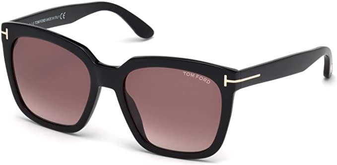 88095fe7d2 Image Unavailable. Image not available for. Color  Sunglasses Tom Ford FT  0502 -F 01T shiny black gradient bordeaux