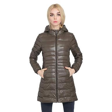 e6c61d24f61 Amazon.com  SKY-HAWK Down Jacket for Women Hooded Ultra Light Down ...