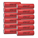 12 LG HE2 18650 2500mAh 20A 3.7v Rechargeable Flat Top Batteries