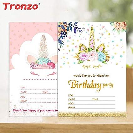 amazon com cards weddings unicorn party unicorn invitations card