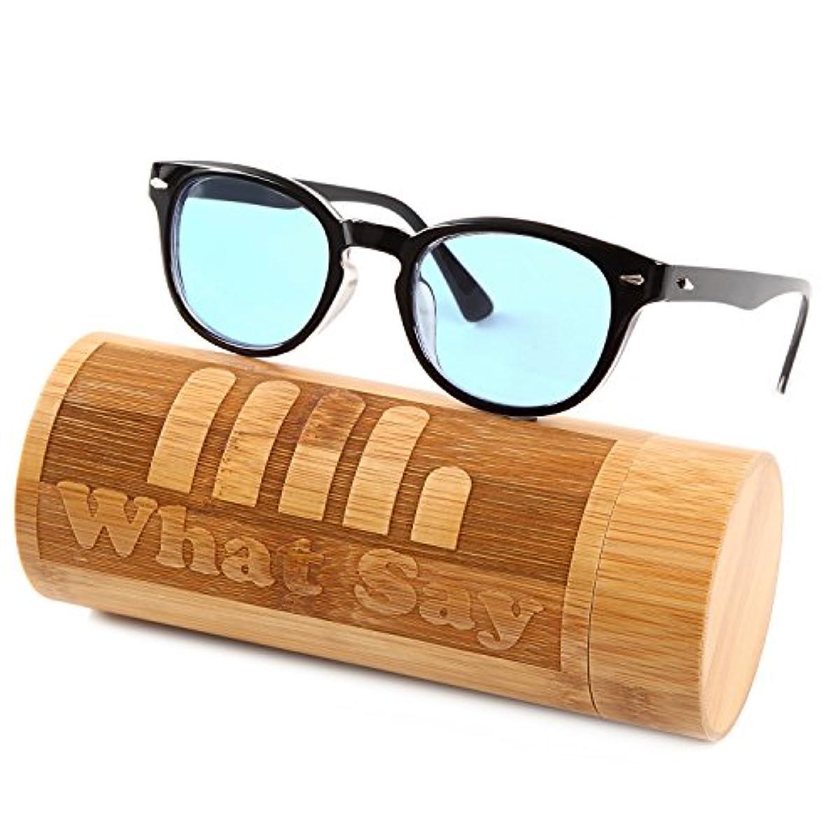 [해외] WHAT SAY 웰링톤 프레임 컬러 렌즈 썬글라스 클리어 렌즈 다테 안경 전11색 아시안 피트 트렌드 UV400 맨즈 레이디스 소프트&하드 케이스 첨부부