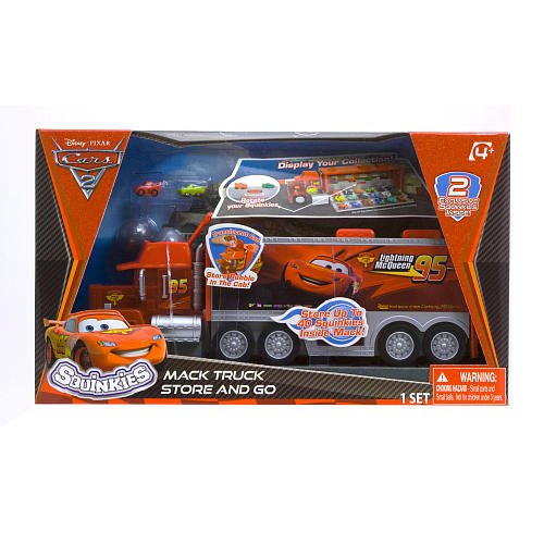 Amazon Com Squinkies Disney Cars Mack Truck Storage And Display