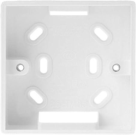 Soporte para la caja de conexiones para el control del termostato, anclaje sobre pared (86 mm x 86 mm): Amazon.es: Hogar
