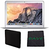 "Apple 13.3"" MacBook Air Laptop Computer MMGG2LL/A + Padded Case For Macbook + MicroFiber Cloth Bundle"