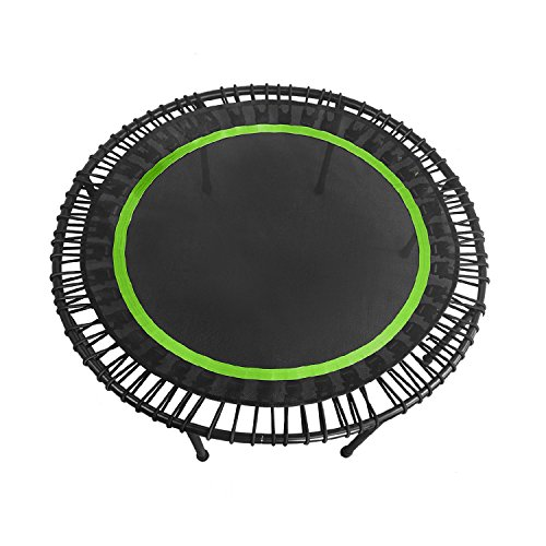 DEHORMS Durable Mini Fitness Trampoline Indoor Exercise Home Rebounder with Safety Bungee Cover