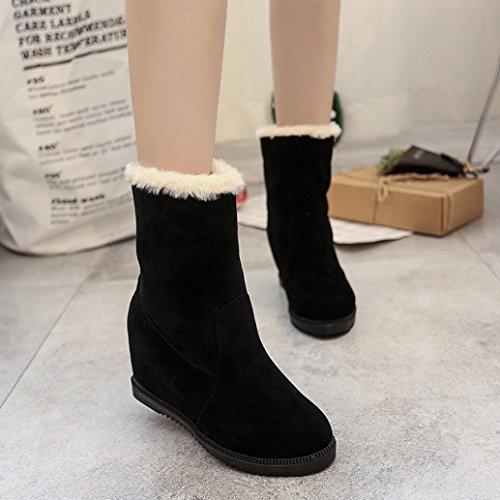 Botas Mujer,Ouneed ® Las botas de la nieve de las mujeres de la manera guardan los zapatos de invierno altos calientes Negro