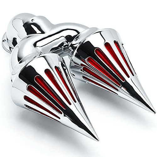 Krator Chrome Dual Spike Intake Air Cleaner Filter Kit For Harley-Davidson Softail Custom Applications by Krator (Image #1)