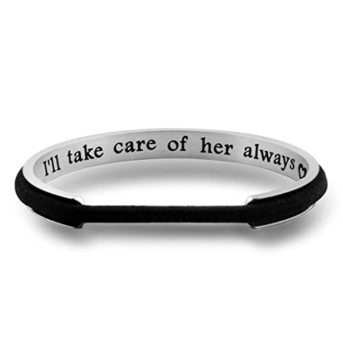 Amazon.com  Zuo Bao Mother in Law Hair Tie Bracelet Thank You for Raising  The Man of My Dream I Will Take Care of Her Always Bracelet Wedding Gift  for ... eab91a61ec0