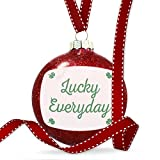 Christmas Decoration Lucky Everyday St. Patrick's Day Simple Four Leaf Clovers Ornament