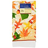 Home Collection 2 Piece Kitchen Linen Set - Virbant Fall Leaves/Acorns Theme! Includes: 2 Towels