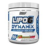 Cheap Nutrex Research Lipo 6 Dynamix | Rapid Action Fat Loss & Energy Support, Dynamine, Choline, Huperzine, Theanine, Caffeine Citrate | Strawberry Kiwi | 60 Servings