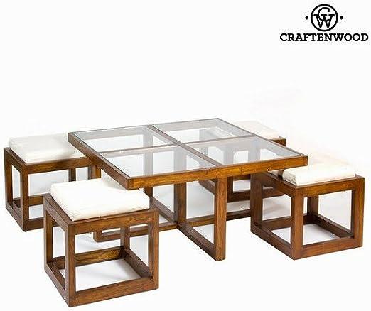 Mesa centro con 4 taburetes - Colección Serious Line by ...