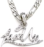 GWOOD Lace Up Pendant Silver Color With 24 Inch