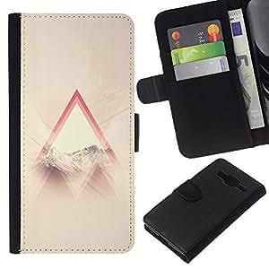 KLONGSHOP // Tirón de la caja Cartera de cuero con ranuras para tarjetas - Santo Dios cristiano Awe Inspiring Nube Ray - Samsung Galaxy Core Prime //