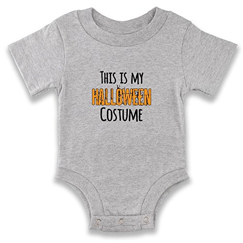 [This Is My Halloween Costume Grey 18M Infant Bodysuit by Pop Threads] (1980's Costume Party City)
