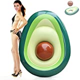 Inflatable Pool Float Avocado, Rapid Valves with Beach Ball, Suitable The Beach Summer Party Outdoor Water, for Adults Kids