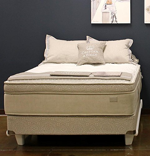 Chattam & Wells Queen Revere Latex Euro Top Mattress & Low Profile Box