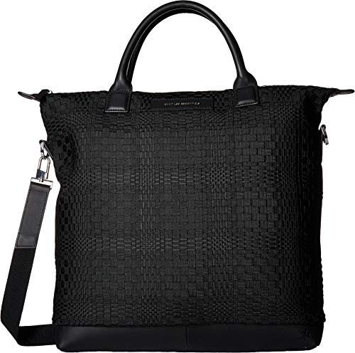 - WANT Les Essentiels Men's O'Hare Tote, Multi Resort Basketweave/Black, One Size