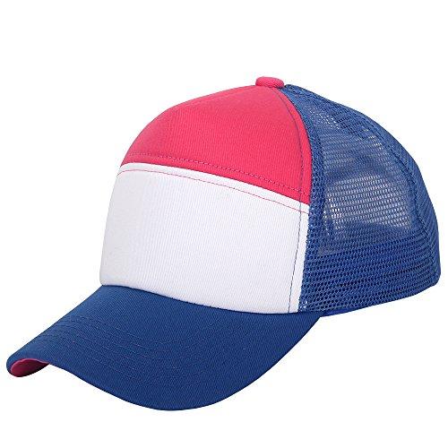 oriental spring - Gorra de béisbol - para hombre Royal Blue/Pink