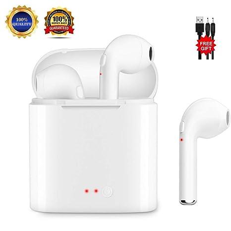 Zpower Auriculares Inalámbricos Bluetooth v4.2 Auriculares Intrauditivos High Difelity Stereo con Estuche de Carga