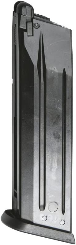 Asg Cz P-09 Gas Gbb 25 Golpes Cargador, Unisex Adulto, Negro, Talla Única