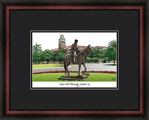 Texas Tech University Academic Exquisitely Framed Imprinted (Tech University Framed Lithograph)