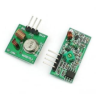 Aihasd 433mhz RF transmisor inalámbrico módulo y kit receptor para Arduino Raspberry pi
