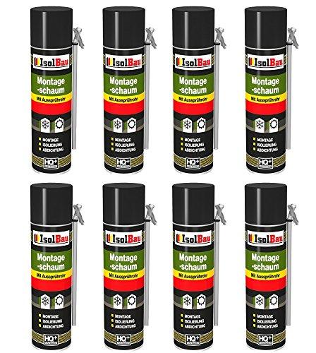 Espuma de montaje 8 lata 500 ml con aussprührohr 1 K Diseño Espuma de espuma de poliuretano adaptador Espuma: Amazon.es: Bricolaje y herramientas