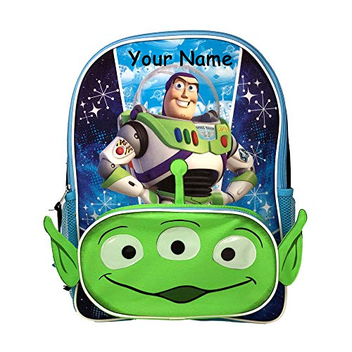 Disney Personalized Toy Story Buzz Lightyear Space Ranger with Green Alien Backpack Book Bag - 16 -
