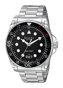 Gucci - Diver - Reloj de Pulsera analógico automático para Hombre Acero Inoxidable ya136208: Amazon.es: Relojes