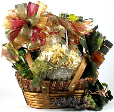 The Artisan Selection Beautiful Italian Theme Gourmet Gift Basket | Housewarming Gift Idea