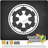 Galaktisches Imperium 10 x 10 cm IN 15 FARBEN - Neon + Chrom! Sticker Aufkleber