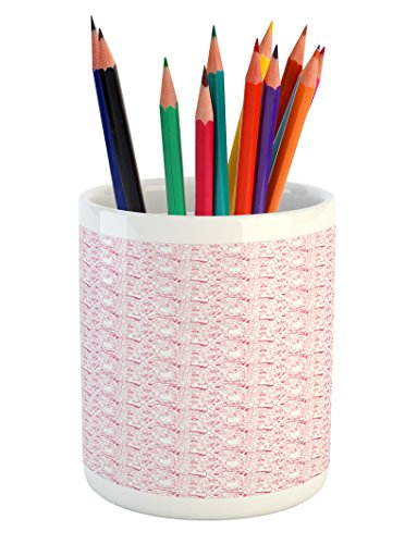Lunarable Pink and White Pencil Pen Holder, Unicorn Cat and