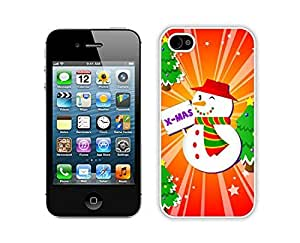 Personalized Christmas snowman White iPhone 4 4S Case 9 by icecream design