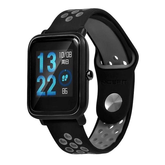 ☀️Modaworld Pulsera Ligera Muñequera Wristband Correa de Reloj Pulsera de Repuesto para Xiaomi Amazfit Bip Youth Watch Banda de Reloj smartwatch (Gris, ...