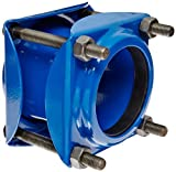 Smith-Blair Ductile Iron Pipe Coupling, Carbon Steel Bolt, 4 Bolts, 5'' Length, 4'' Pipe Size