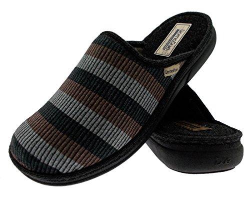 tissu de chausson chaussure ligne brune grise art 735