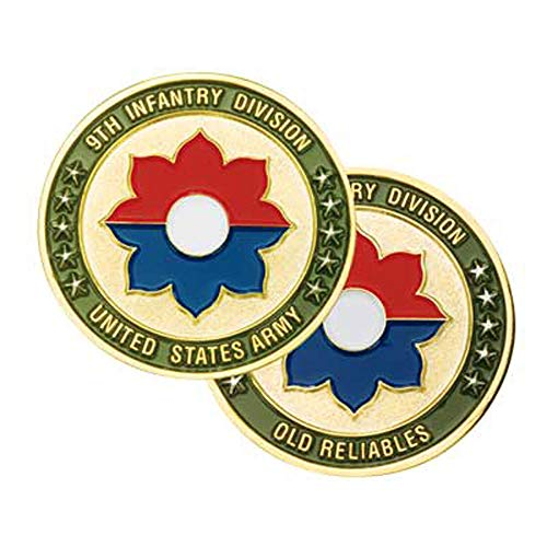 (Medals of America 9th Infantry Division Challenge Coin Gold)