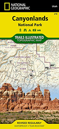 National Geographic Trails Illustrated Map, 210 Canyonlands - Nat Shopping