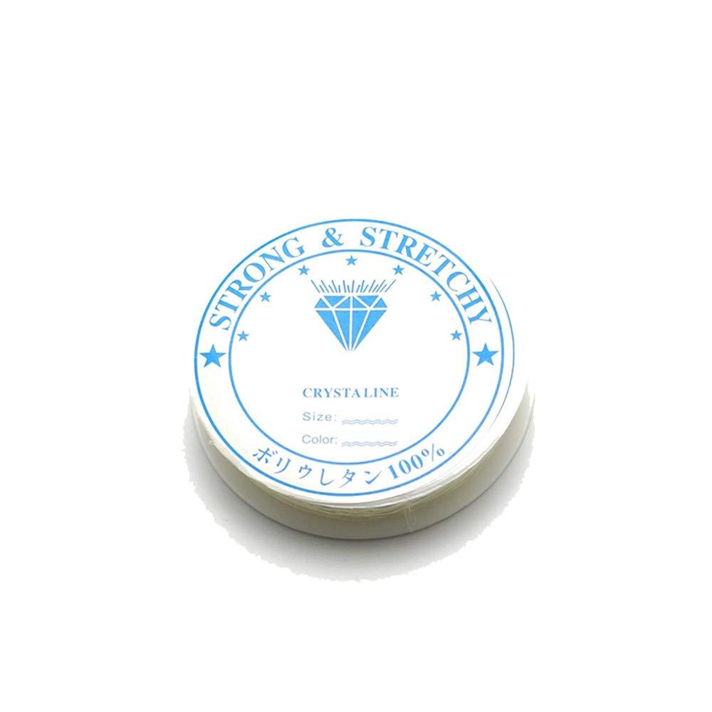 Ogquaton 0.4mm Cristal Claro Hilo el/ástico fuerte Adecuado para la fabricaci/ón de joyas Stringing DIY Collares Pulseras 1 rollo