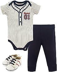 Little Treasure Unisex-Baby Baby Bodysuit, Pant and Shoe Set