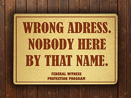Federal Witness Protection Program Funny Doormat Funny Sweet