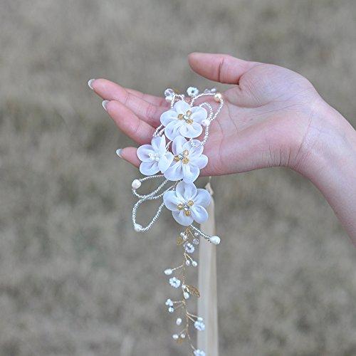 Diamants Ulapan Robe De Mariée Strass Écharpe De Ceinture Perles Ceinture De Ceinture De Mariée, Champagne Sh63