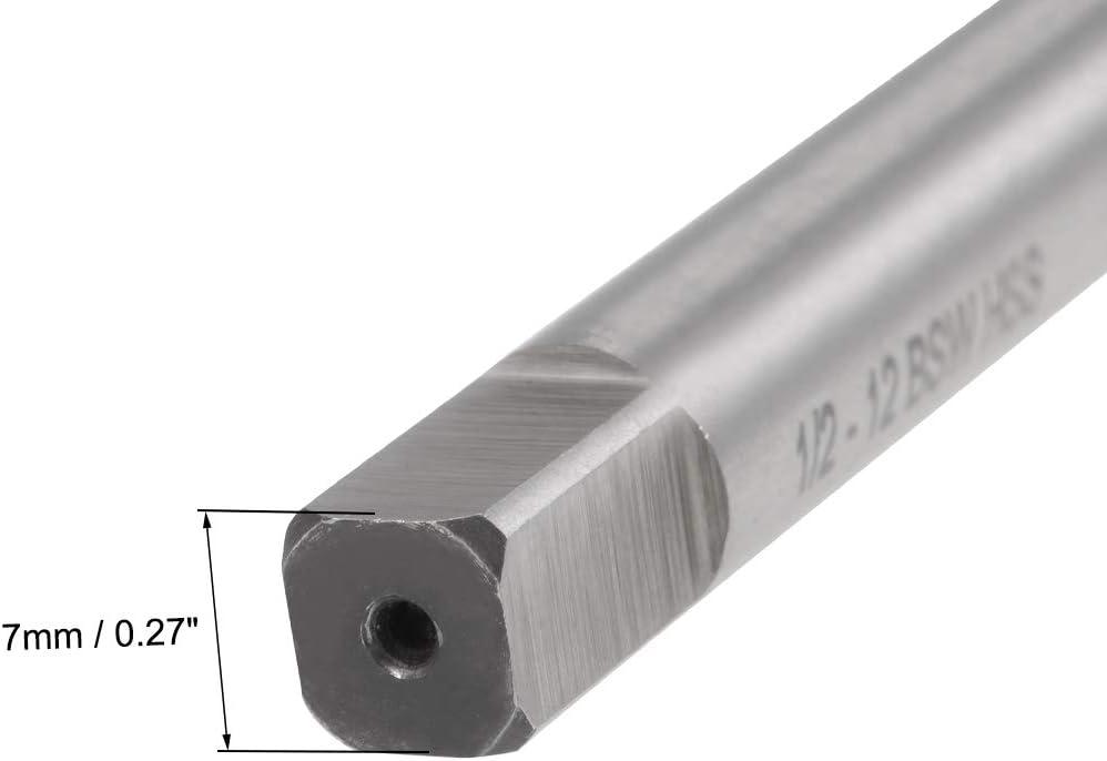 sourcing map Machine Tap 1//4-20 BSW Thread Pitch 3 Straight Flutes H2 High Speed Steel 2pcs