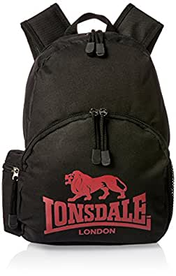 Lonsdale men MARWELL, BLACK/RICH RED, One Size