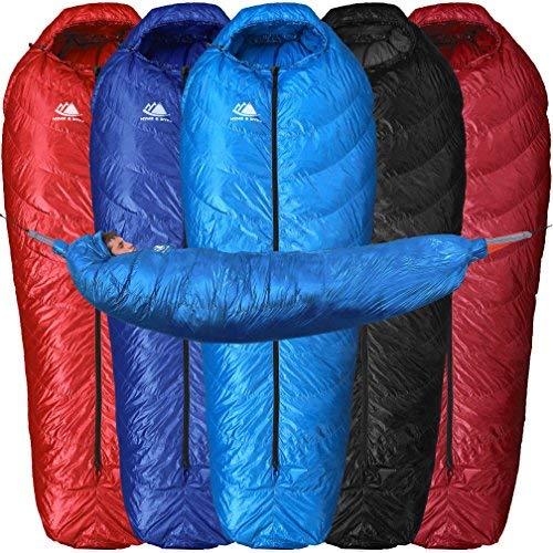 Hyke & Byke Hammock Underquilt Down Sleeping Bag for Backpacking - Ultralight Hydrophobic Top Quilt and Underquilt for Lightweight Camping 650 Fill Power Crestone 15 Degree F (Light Blue, Regular)