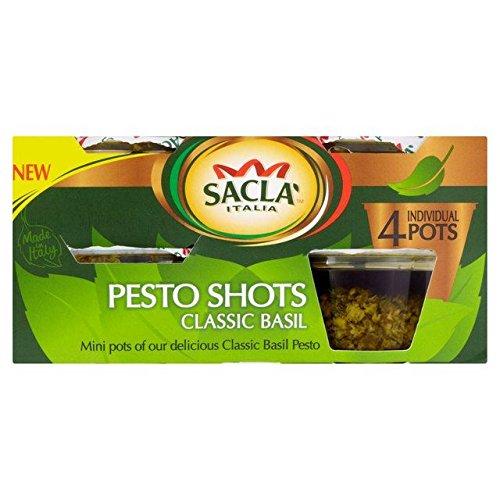 Sacla' Classic Basil Pesto Shots - 4 x 45g