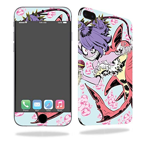 MightySkins Skin for Apple iPhone 7 Plus - Evil Mermaid | Protective, Durable, and Unique Vinyl Decal wrap Cover | Easy to Apply, Remove, and Change Styles | Made in The USA -