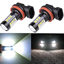 Alla Lighting® 80W High Power Osram H11 H8 Extremely Super Bright White LED Lights Bulbs for Fog Light Lamp Replacement