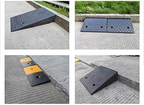 ラバースロープパッドトライアングルパッド駐車場の入り口上り坂パッド家庭用車椅子ステップパッドノンスリップと耐久性のある簡単にキャリー 段差プレート・スロープ (Size : 100*25*6CM)